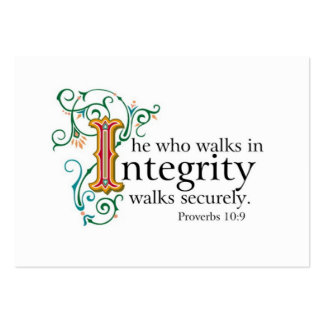 Bible Scriptures on Trust and Integrity.. Business Card Template