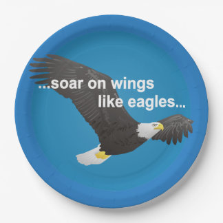 Bible Soar on Wings Like Eagles Paper Plate
