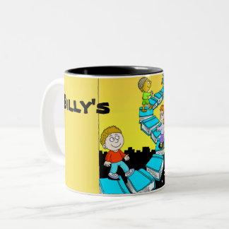 Bible Stairway of learning Two-Tone Coffee Mug
