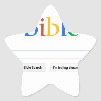 Bible Star Sticker