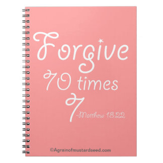 Bible Study Christian Quotes Spiral Note Book