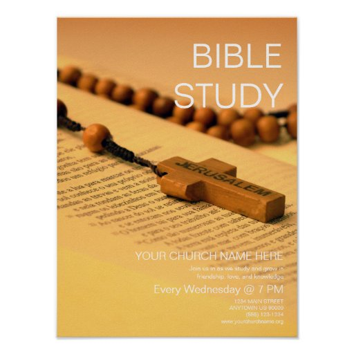 bible study  customizable church event poster