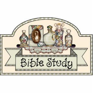 """""""Bible Study"""" - Decorative Door Sign Statuette"""