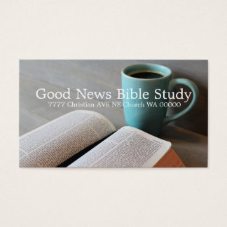 Bible Study Group Christian Business Card