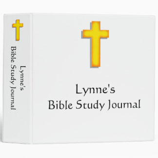 Bible Study Journal, Personalized 3 Ring Binder