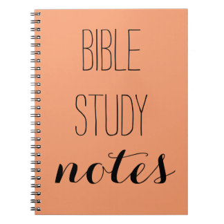 """""""Bible Study Notes"""" Pick your color Notebook"""