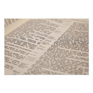 Bible Text Photographic Print