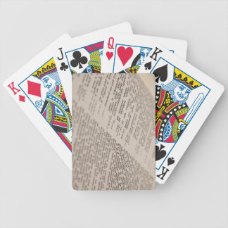 Bible Text Bicycle Poker Cards