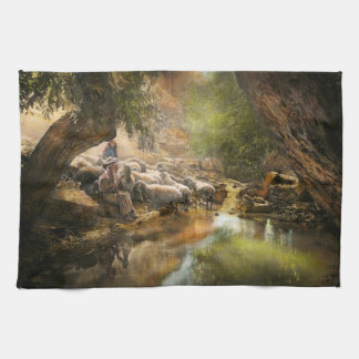 Bible - The Lord is my shepherd - 1910 Towels