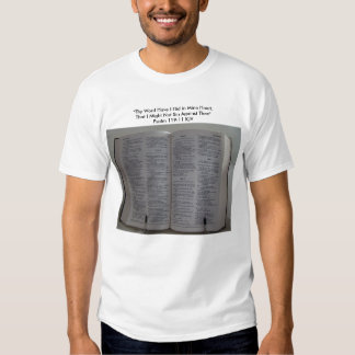 """Bible, """"Thy Word Have I Hid in Mine Heart,That ... Shirt"""
