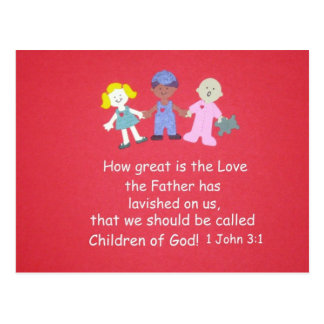 bible verse 1 john 31 postcard - Religious Valentine Cards