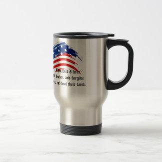 Bible Verse 2 Chronicles 7:14, USA Flag Mug