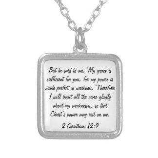 bible verse 2 Corinthians 12:9 necklace