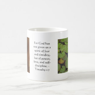 Bible Verse About Courage - Timothy 1:7 Coffee Mug