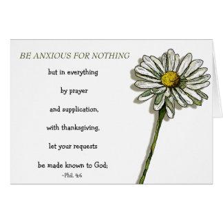 BIBLE VERSE, ANXIETY, COMFORT: Daisy, Flower Card