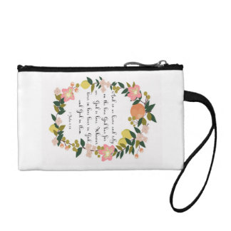 Bible Verse Art - 1 John 4:16 Coin Purse