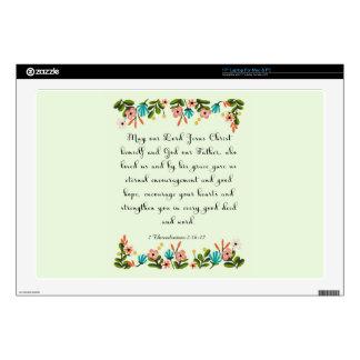"""Bible Verse Art - 1 Thessalonians 2:16-17 17"""" Laptop Decal"""