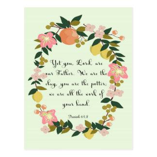 Bible Verse Art - Isaiah 64:8 Postcard