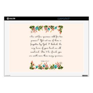 Bible Verse Art - Luke 12:6-7 Laptop Decals