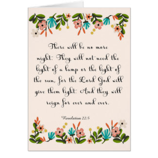Bible Verse Art - Revelation 22:3 Card