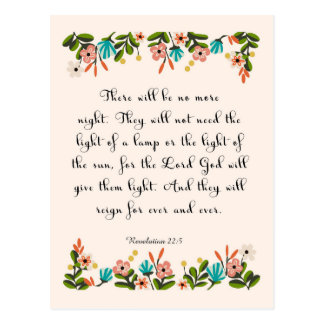 Bible Verse Art - Revelation 22:3 Postcard