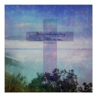 Bible verse art scripture Ecclesiastes 3:11 Poster