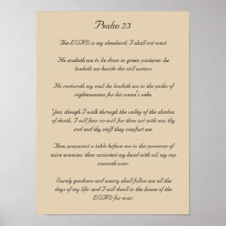 Bible Verse Artwork Psalm 23 Poster