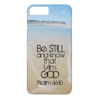 Bible Verse Be Still and Know I Am God, Ocean iPhone 7 Plus Case