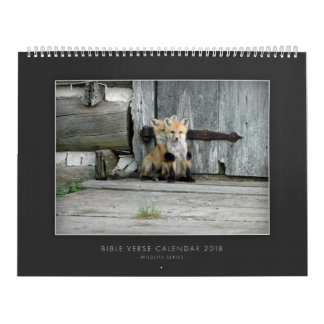 Bible Verse Calendar 2018 Wildlife Series
