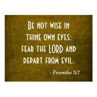 Bible Verse - Christian - Proverbs 3:7 Postcard