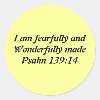Bible Verse Classic Round Sticker