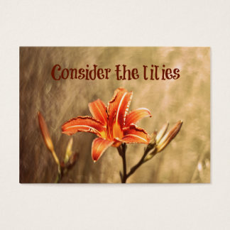 Bible Verse: Consider the Lilies Business Card