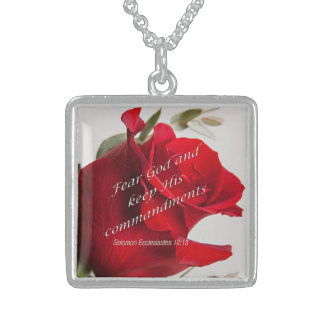 Bible Verse Ecclesiastes 12-13 Jewelry Necklace