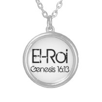 bible verse El-Roi (The strong one who sees) Silver Plated Necklace