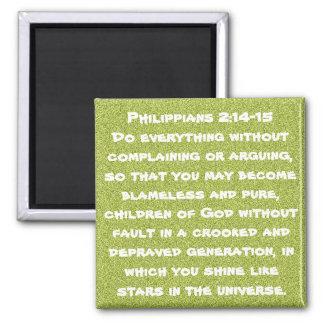 Bible verse encouragement Philippians 2:14-15 Fridge Magnet