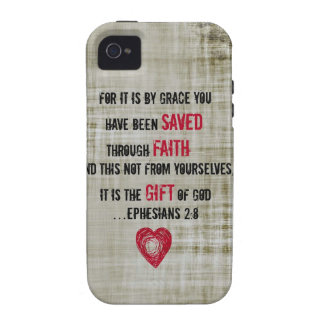 Bible Verse Ephesians 2:8 Case-Mate iPhone 4 Cases