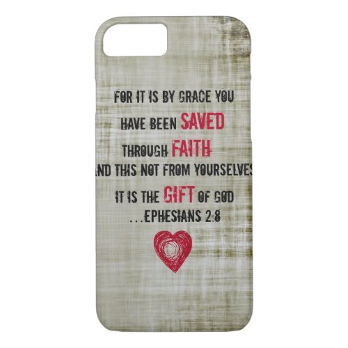 Bible Verse Ephesians 2:8 Phone Case