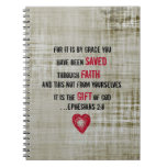 Bible Verse Ephesians 2:8 Note Books