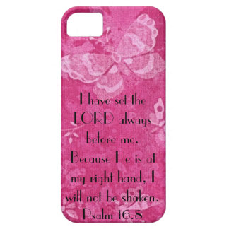 bible verse for encouragement Psalm 16:8 iPhone SE/5/5s Case