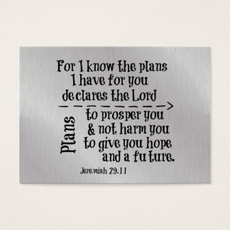 Bible Verse: For I know the Plans I have for you Business Card