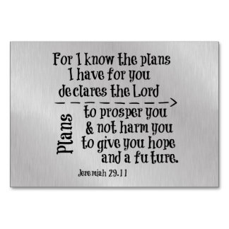 Bible Verse: For I know the Plans I have for you Card