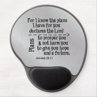 Bible Verse: For I know the Plans I have for you Gel Mouse Pad