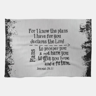 Bible Verse: For I know the Plans I have for you Hand Towels