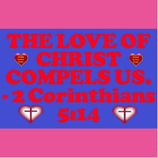 Bible verse from 2 Corinthians 5:14. Cutout