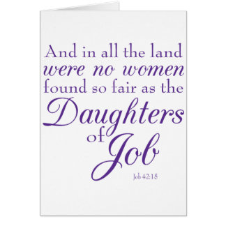 Bible Verse from Book of Job Card
