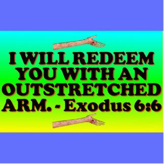 Bible verse from Exodus 6:6. Cutout