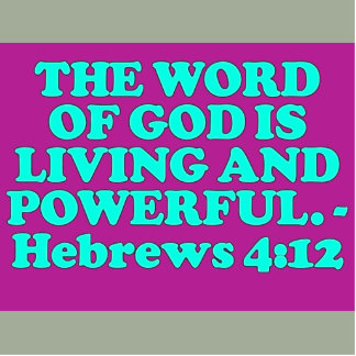 Bible verse from Hebrews 4:12. Statuette