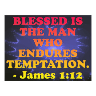 Bible verse from James 1:12. Photo Print