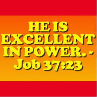 Bible verse from Job 37:23. Cutout