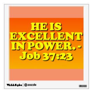 Bible verse from Job 37:23. Wall Sticker